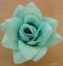 """4 1/4"""" Aqua Mint Rose Silk Flower Hair Clip,Dance,Bridal,Prom,Hair Accessory"""