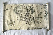 Map Of Middle Earth Scroll Lord Of The Rings The Hobbit on Handmade Scroll