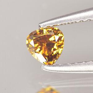 0.11 cts Fancy Yellow Orange Diamond Pear Untreated Color Fancy Color Diamonds