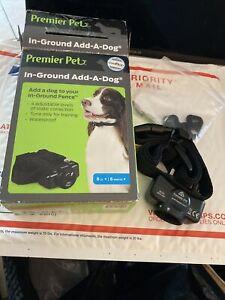 New Open Box Premier Pet GIF00-16918 Wireless Add-A-Dog Collar 8lbs+ No Battery
