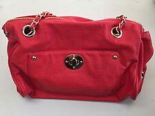 Red Sinequanone Shoulder Bag Handbag External Pocket Internal Zip Up Lining