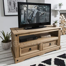 Wooden TV Stand Unit Cabinet Corona Mexican Pine