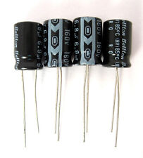 6.8uF 160V Radial Lead Electrolytic Capacitors: Small Size: 4/Lot