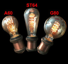 4W Dimmable E27 ST64/G80/A60 Spiral Edison LED Filament Bulb 2200K Gold Glass