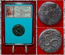 Roman Empire Coin Claudius Emperor On Obverse And Wreath On Reverse