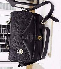 Dooney and Bourke Black Pebble Leather Crossbody Handbag Bag Purse