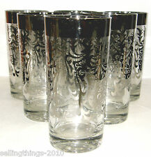 Kimiko Guardian - Lot of 6 Silvered Glass Tumblers -1950's - 1960's