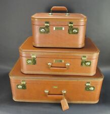 Vintage J.C. Higgins 3 Piece Ladies Fine Luggage Set