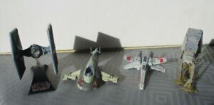 Star Wars Die Cast Models, Tie Fighter, X Wing, Slave Ship, Imperial Walker
