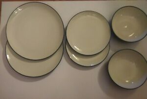 "Noritake Colorwave Blue 10 1/2"" Dinner, Salad Plates & Bowls #8484 6 pieces, New"