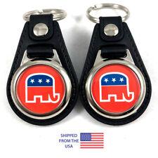 Republican Party Elephant Key Fob Key Ring Keychain (2-Pack)