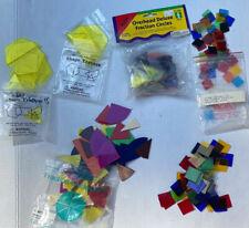 Math Manipulatives Overhead Translucent Geometric Shapes Pattern Blocks Lot