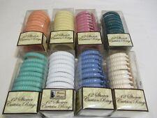 New 12 Pcs Plastic Shower Curtain Hooks Rings Ribbed Bathroom multicolors New!