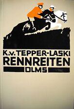Buch: Rennreiten von Karl von Tepper-Laski (2001) Olms - Pferde Klassiker