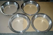FOUR RESTORED AMC TRIM RINGS 68 69 71 72 AMX, JAVELIN, RAMBLER MAGNUM 500 WHEELS