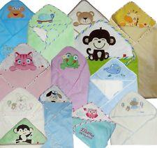 Badetuch Kapuzenbadetuch Baby mit Name bestickt Handtuch 3D Geschenk NEU