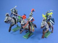 BRITAINS DEETAIL MOUNTED KNIGHTS 3 FIGURES SET#1 FACTORY NEW STOCK FREE SHIP