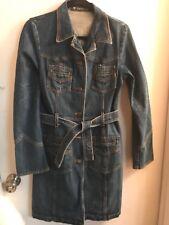Serfontaine Denim Trench Jacket Size M (6-8)