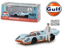 Greenlight 1:43 GULF Porsche 917K with Steve McQueen Figure Model 86435