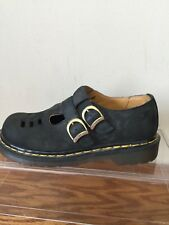 DR. MARTENS MARY JANES BLACK LEATHER SHOES SIZE 4