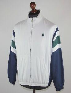 Vintage Nike Court tennis white training jacket Size M Agassi Sampras Style