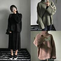 Winter Warm Women Korean Wool Sweater Loose Turtleneck Thermal Pullover Tops Hot