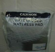 Cannon Waterproof Super Soft Quilted Mattress Pad Queen Size White