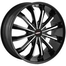 "Dip D40 Fusion 24x9.5 5x5""/5x5.5"" +18mm Black/Machined Wheel Rim 24"" Inch"