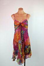 Marciano by GUESS Bufferfly Handkerchief Hem Bustier VTG 90s Boho Silk dress - S