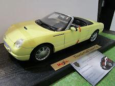 FORD  THUNDERBIRD SHOW CAR cabriolet concept 1/18 MAISTO 31866 voiture miniature