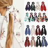 Hot Floral Print Scrunchie Women Hair Scarf Elastic Hairband Bow Ropes Hair Ties
