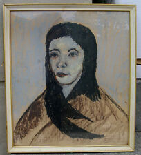 Curt Agge ( Swedish. 1929) Portrait of a young dark haired girl. Dated 1959