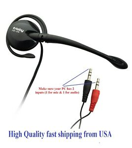 Single ear Wired Mono Headphone Headset with Mic for HP Dell MSI Acer Asus Razer