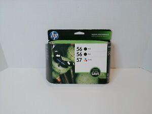 HP Genuine 56 57 Combo Pack Printer Black Tri Color Ink 2016
