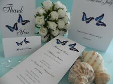 Blue Butterflies Wedding & Engagment Invitations - Samples Invites ONLY $1
