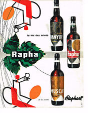 PUBLICITE ADVERTISING 024   1960   ST RAPHAEL   apéritif RAPHA