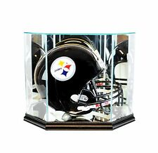 New F/S Glass Football Helmet Display Case Black Molding FREE SHIPPING Made USA