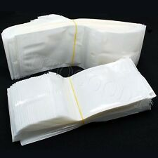 "100 Ziplock 2x8 Clear Plastic White Bags 2"" x 8"" Wholesale Lot"