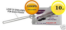 """Luggage Tag 10 Mil Hot Laminating Pouches With 6"""" Loops [25] Clear 2.5 x 4.25"""