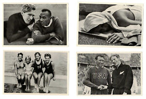 12 Sammelbilder USA Sportler u. a. Jesse Owens für Olympia 1936 Band I + II