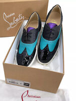 Christian Louboutin Auth Brogue Leather Golfito Wingtip Sneakers 43 US 10 W/ Box