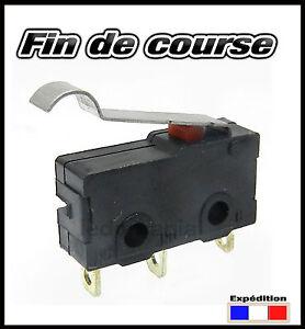 981LDR# Fin de course 5A 125v à lame demi ronde 1 à 10pcs - micro switch