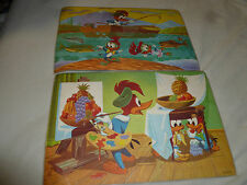 VINTAGE WALTER LANTZ PLACEMAT LOT OF 2 WOODY WOODPECKER CHILLY WILLY 1978