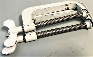 """VINTAGE  PAIR Circle E Heavy Duty 6"""" C-CLAMP  7600 E Made in USA"""