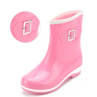 Womens Waterproof Ankle Boots Ladies Rain Snow Wellies Wellington Chelsea Shoes