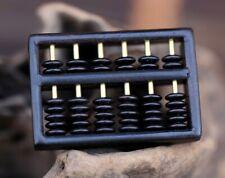 Ebony Wood Chinese Traditional Calculator Abacus Craft Key Chain Pendant