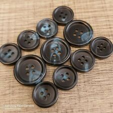 The Ultimate Curved Black Buffalo Horn Suit Jacket Button Set!!