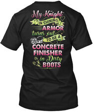 Printed Cute Concrete Finishers Lady - My Knight In Hanes Tagless Tee T-Shirt