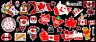 Canada Day - Canadian Flags Contour  Cut Vinyl Sticker Bundle