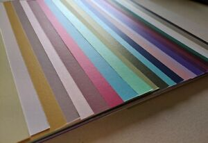 Pearl Shimmer 300gsm A4 Craft Card PACK of 10 sheets Premium Quality 51 colours